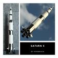 Descargar archivos STL gratis Saturno 5 Échelle 1:200 (Multi Pièces), Kmobrain