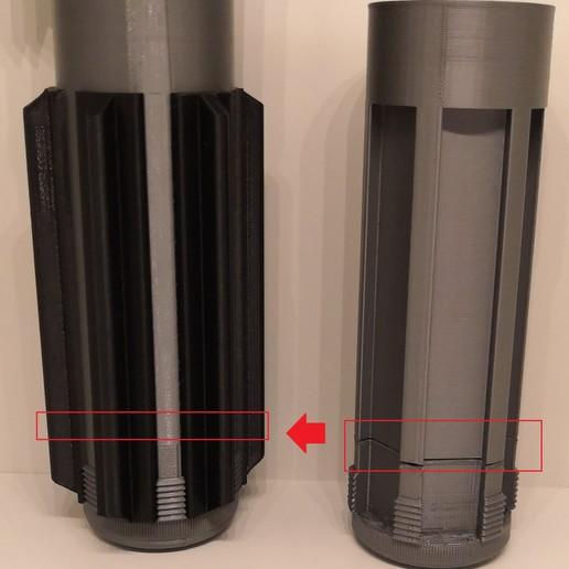 Télécharger objet 3D gratuit Poignée grise en une seule pièce, Kmobrain