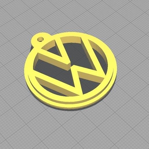 Download 3D print files KEY CHAIN VW (Volkswagen).V1, classiccparts