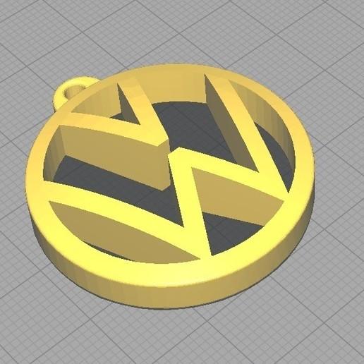 Download 3D printer designs KEY CHAIN VW (Volkswagen).V2, classiccparts
