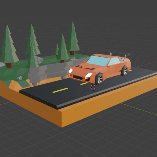 Download free STL file 3D car diorama • 3D printer design, cebriian95