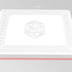 Descargar diseños 3D CAJA DE ALMACENAMIENTO DICE & MINI / ORGANIZADOR **Celtic Knot D20 Upgrade**, DungeonsDragonsDoggos