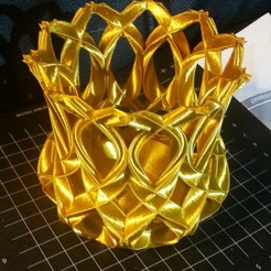 Download free 3D printing templates basket gold, HundredAcreWeeds