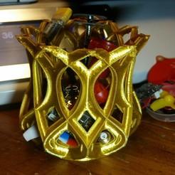 Download free STL file golden basket 2 • 3D printer model, HundredAcreWeeds