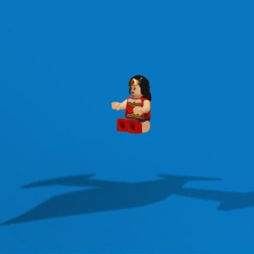 Télécharger plan imprimante 3D gatuit Le jet invisible de Wonder Woman, version Lego, FluffyPantsStudio