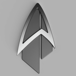 Descargar diseños 3D gratis Star Trek: Picard Combadge, FluffyPantsStudio