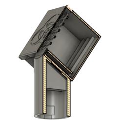 Download free 3D printer designs Snorkel mask hepa adapter + cartridge, FluffyPantsStudio