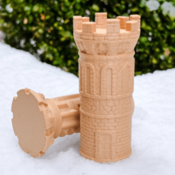 Download free 3D printing designs Labyrinth Tower Gift Box Puzzle, FluffyPantsStudio