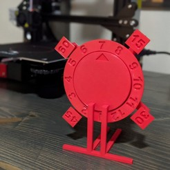 Download free 3D printing templates Reverse Clock, GrondStrong