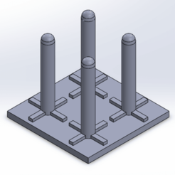 Descargar modelo 3D Estante de secado de tubos de prueba (kit de pruebas API), WellTaut