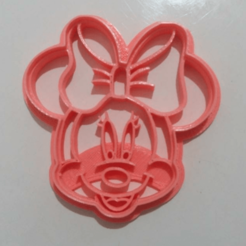 Descargar modelos 3D MINNIE MOUSE COOKIE CUTTER, silvinasc