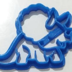 Download 3D printer model DINO DINOSAUR COOKIE CUTTER, silvinasc