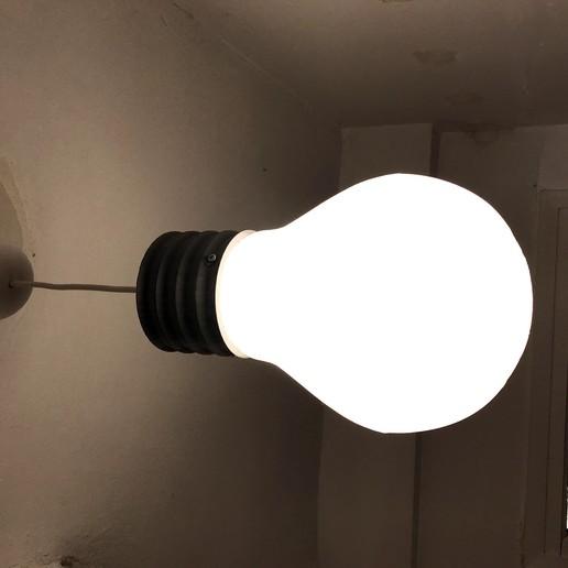 IMG_1393.JPG Download free STL file Light_Bulb Lamp V3.1 • 3D printable object, Pipapelaa