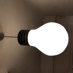 IMG_1393.JPG Download free STL file Light_Bulb Lamp V3.1 • 3D printable object, Pipapelaa