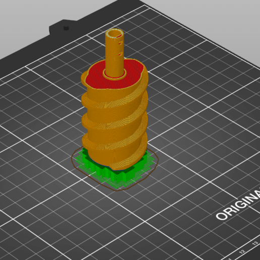 Schneckenrad_grobfein_sliced.png Télécharger fichier 3MF gratuit Honda HS 622 / HS 655 / Schneefräse elektrische Kaminverstellung / support de goulotte sur mesure pour souffleuse à neige • Plan pour impression 3D, ohrenstoepsel