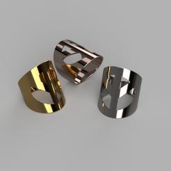 Download free 3D printer designs Peace ring, bold, ohrenstoepsel