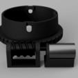 Turmverstellung_grobfein_v3_1.png Télécharger fichier 3MF gratuit Honda HS 622 / HS 655 / Schneefräse elektrische Kaminverstellung / support de goulotte sur mesure pour souffleuse à neige • Plan pour impression 3D, ohrenstoepsel