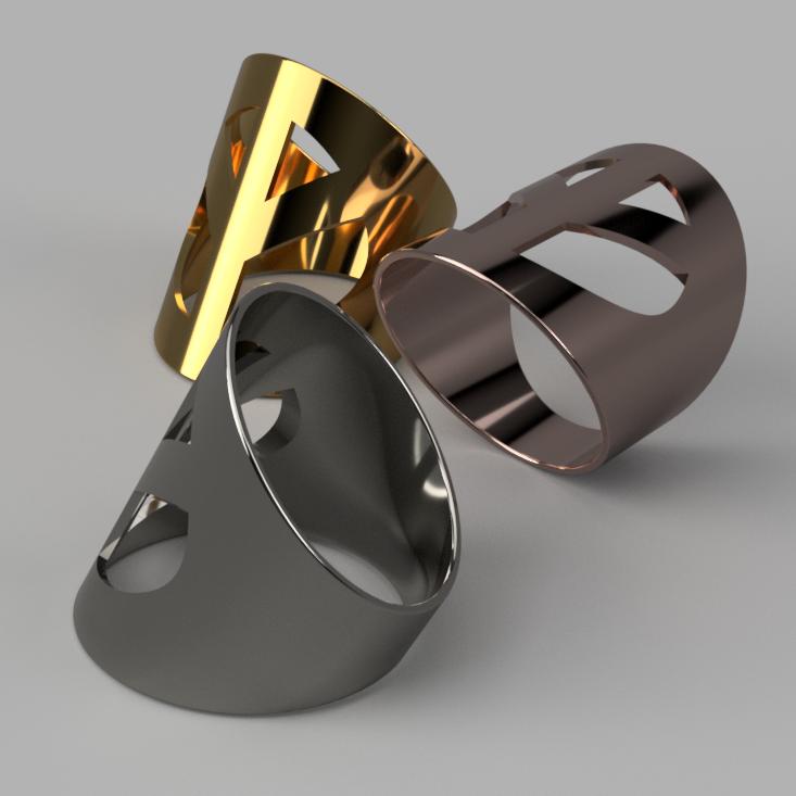 PeaceRing v1 3.png Télécharger fichier 3MF gratuit Anneau de paix, en gras • Objet à imprimer en 3D, ohrenstoepsel