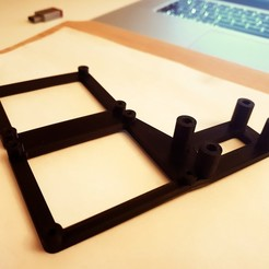 20181011_221947.jpg Download free STL file 3D-Freunde V2 Double Mosfet Holder for Anycubic i3 Mega SD Card Reader • 3D print object, crisonescu