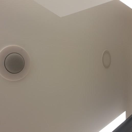 15660858262574973854629400405865.jpg Télécharger fichier STL gratuit Google Home Mini Plafond Mont Epais Anneaux • Design à imprimer en 3D, crisonescu