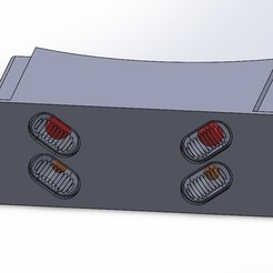 Descargar modelo 3D gratis Panel de luz central de LEDs a escala 1/14 semi posterior, ADW_Design