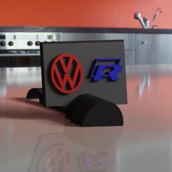 Impresiones 3D Golf R y el logo de Volkswagen, nico_r18fb2