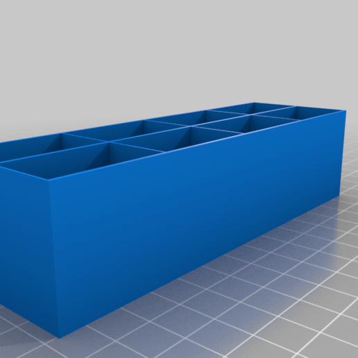 holder_middle.png Télécharger fichier STL gratuit Boîtes pour petits et moyens transistors • Objet pour imprimante 3D, vvvvvv