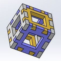 Download free STL file Dovetail Cube for the printer testing • 3D printable template, vvvvvv