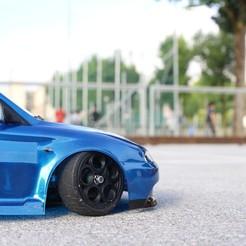 IMG_0537.JPG Descargar archivo STL gratis RUEDAS Alfa Romeo 147 GTA TOURING RC CAR • Diseño para la impresora 3D, ilyakapitonov