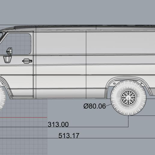 2020-05-07_20-52-06.png Descargar archivo STL CHEVY VAN G20 RC BODY SCALER AXIAL MST TRX4 RC4WD • Modelo para imprimir en 3D, ilyakapitonov