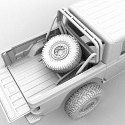 jeep rack6.jpg Télécharger fichier STL gratuit RACK JEEP GLADIATEUR RC BODY CAR CAR 3D PRINTED • Modèle à imprimer en 3D, ilyakapitonov