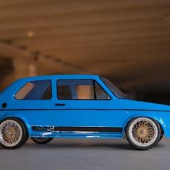 volkswagen golf rc body lexan 267mm caddy shell tamiya tt01 tt02  (5).jpg Download free STL file WHEELS BBS touring Rc car • 3D printer design, ilyakapitonov