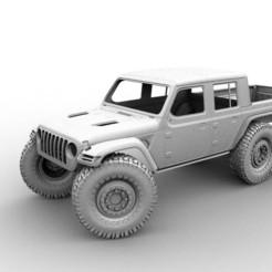 34567689.jpg Télécharger fichier STL 6X6 JEEP GLADIATOR RC HARD BODY SCALER 324 313 370 TRX AXIAL • Modèle imprimable en 3D, ilyakapitonov