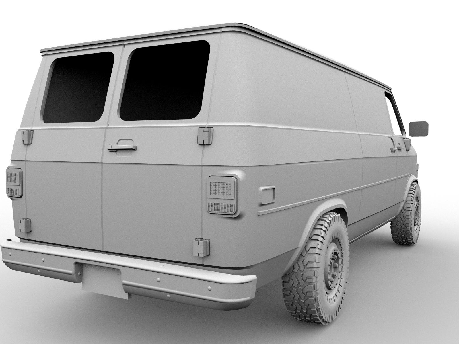 4567.jpg Descargar archivo STL CHEVY VAN G20 RC BODY SCALER AXIAL MST TRX4 RC4WD • Modelo para imprimir en 3D, ilyakapitonov