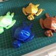Download 3D printer model Cute Flexi Print-in-Place Turtle, 74Greg74