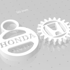 HONDA.jpg Download free STL file HONDA GEAR KEY CHAIN • 3D printable template, GREGCAR_3DPrinting