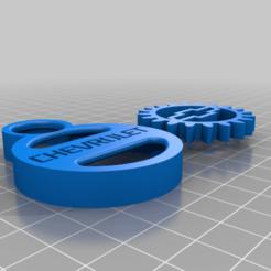 Chevrolet_Key_Chain.png Download free STL file CHEVROLET GEAR KEY CHAIN • 3D print object, GREGCAR_3DPrinting