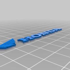 Honda_ATV_Logo.png Download free STL file HONDA • 3D printing model, GREGCAR_3DPrinting