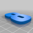 8_Blue.png Download free STL file JIMMIE JOHNSON #48 • 3D printable template, GREGCAR_3DPrinting