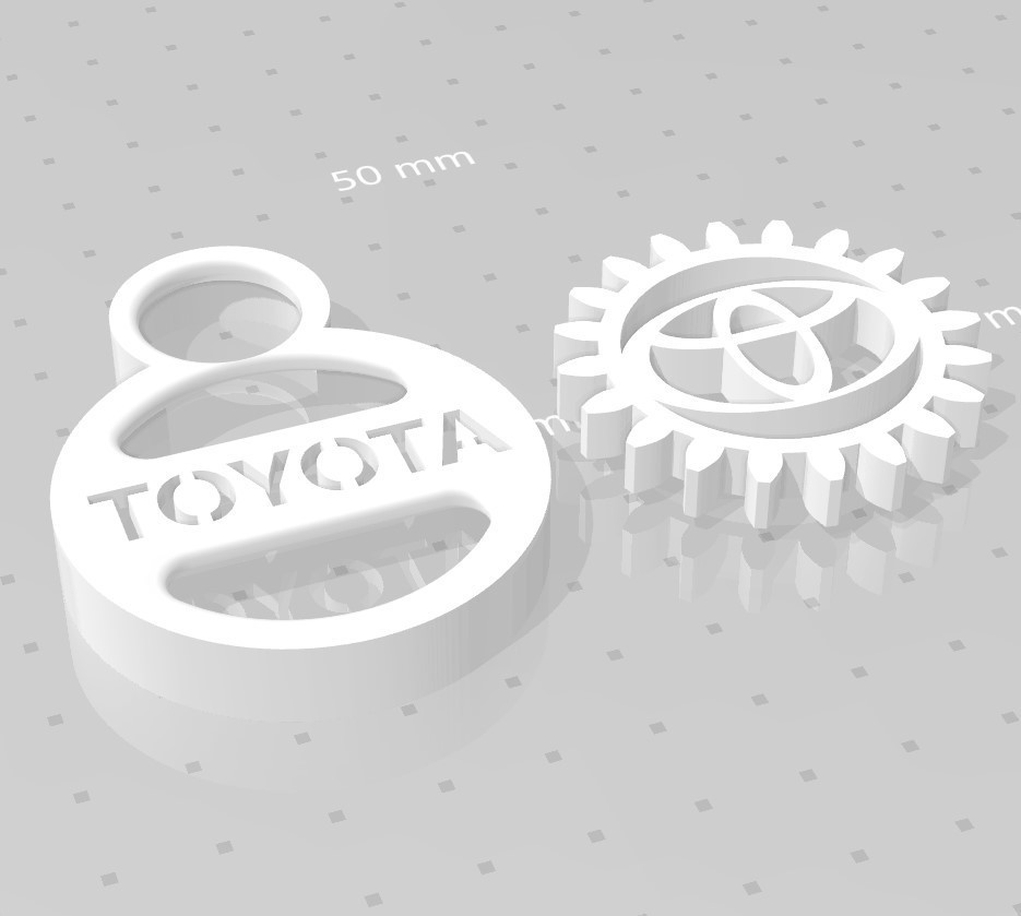 toyota.jpg Download free STL file TOYOTA GEAR KEY CHAIN • 3D printer template, GREGCAR_3DPrinting