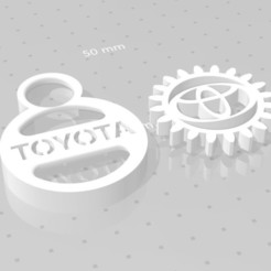 toyota.jpg Download free STL file TOYOTA GEAR KEY CHAIN • 3D printer template, GREGCAR_3DPrinting