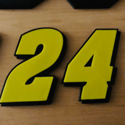 24.png Download free STL file JEFF GORDON #24 • 3D printer model, GREGCAR_3DPrinting