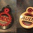 Audi.jpeg Download free STL file TOYOTA GEAR KEY CHAIN • 3D printer template, GREGCAR_3DPrinting