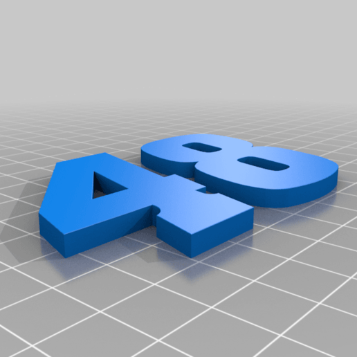 48_Blue.png Download free STL file JIMMIE JOHNSON #48 • 3D printable template, GREGCAR_3DPrinting