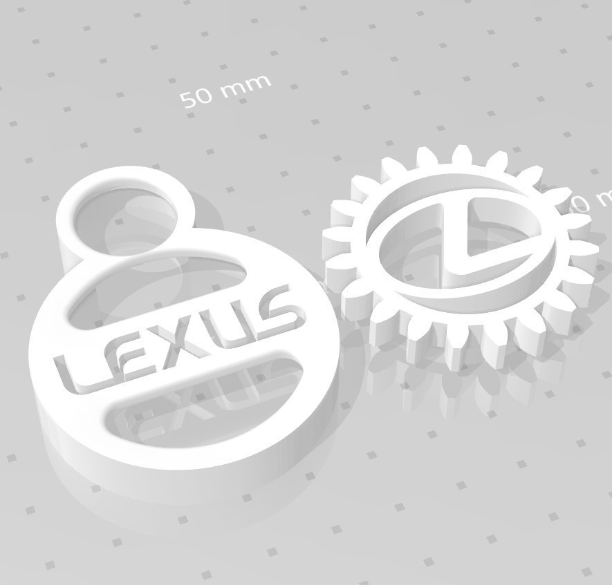 lexus.jpg Download free STL file LEXUS GEAR KEY CHAIN • 3D printing template, GREGCAR_3DPrinting