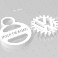 VW.jpg Download free STL file VOLKSWAGEN GEAR KEY CHAIN • 3D print model, GREGCAR_3DPrinting