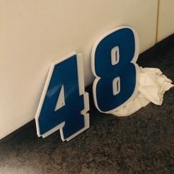 48.png Download free STL file JIMMIE JOHNSON #48 • 3D printable template, GREGCAR_3DPrinting