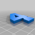 4_Blue.png Download free STL file JIMMIE JOHNSON #48 • 3D printable template, GREGCAR_3DPrinting