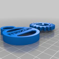 Mazda_Key_Chain.png Download free STL file MAZDA GEAR KEY CHAIN • 3D printer object, GREGCAR_3DPrinting