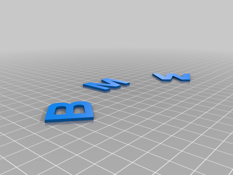 BMW_Letter.png Download STL file BMW • 3D print template, GREGCAR_3DPrinting